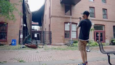 Neighborhoods left devastated after storms