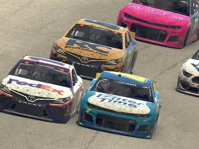 Virtual race a real success for bored NASCAR