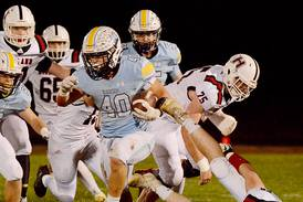 L-S football opens playoffs with dominating win over Highland