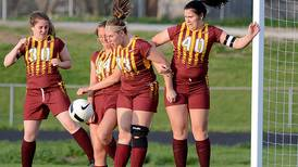 George scores twice in  Mustangs' win over Chariton